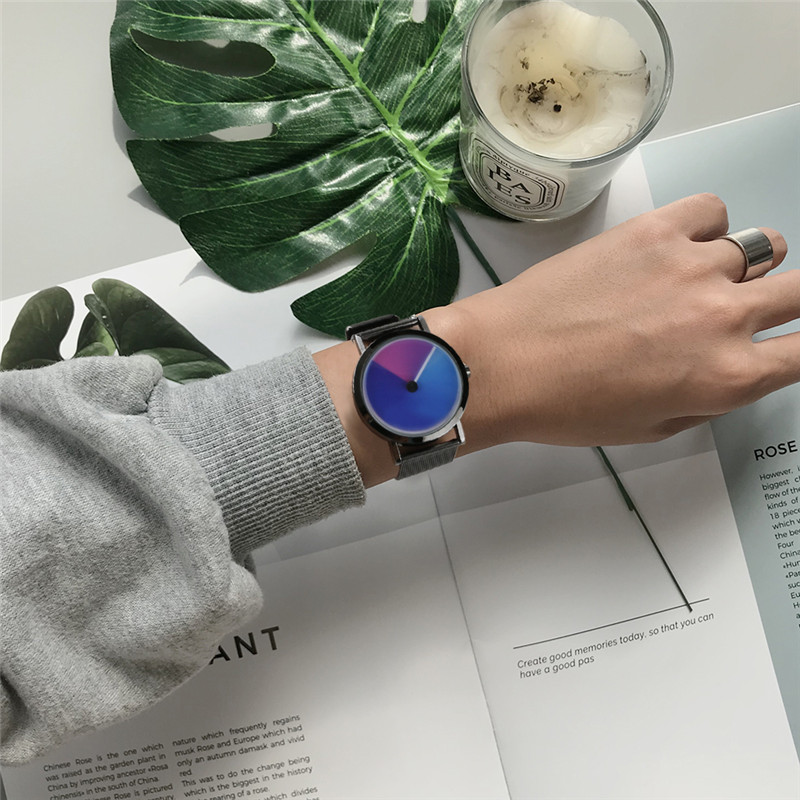 Rainbow Shadow Chase 3D Wristwatch for Men and Women