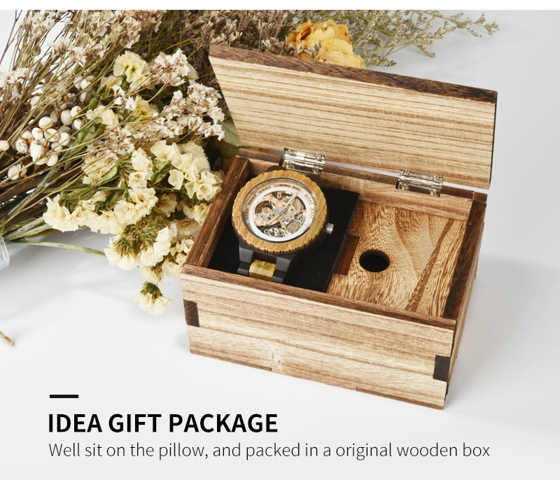 BOBO BIRD Wooden Mechanical Luxury Watch