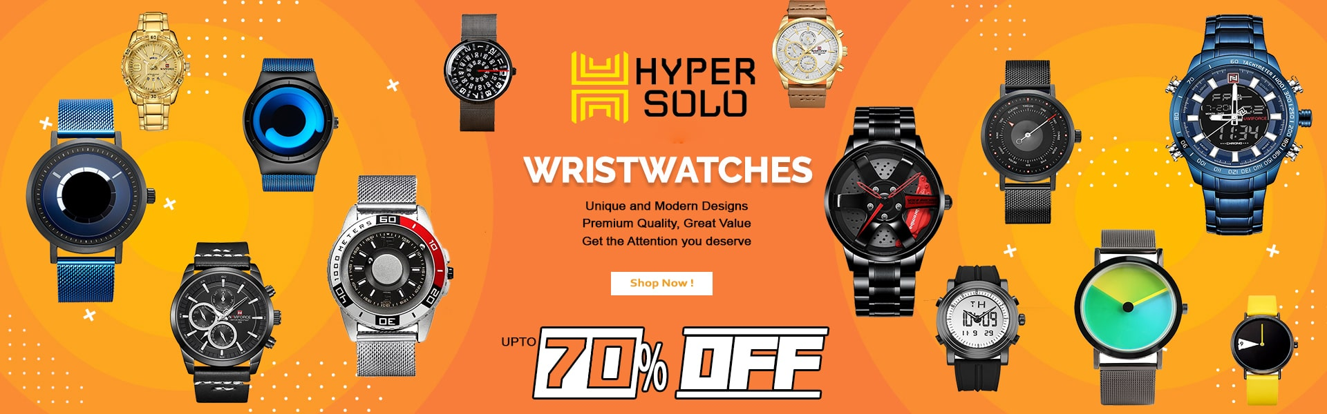 HyperSolo Wrist Watches Discount Banner