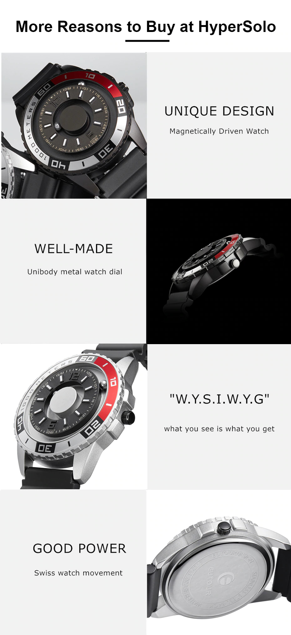Magnetic metal Touch Premium men's watch