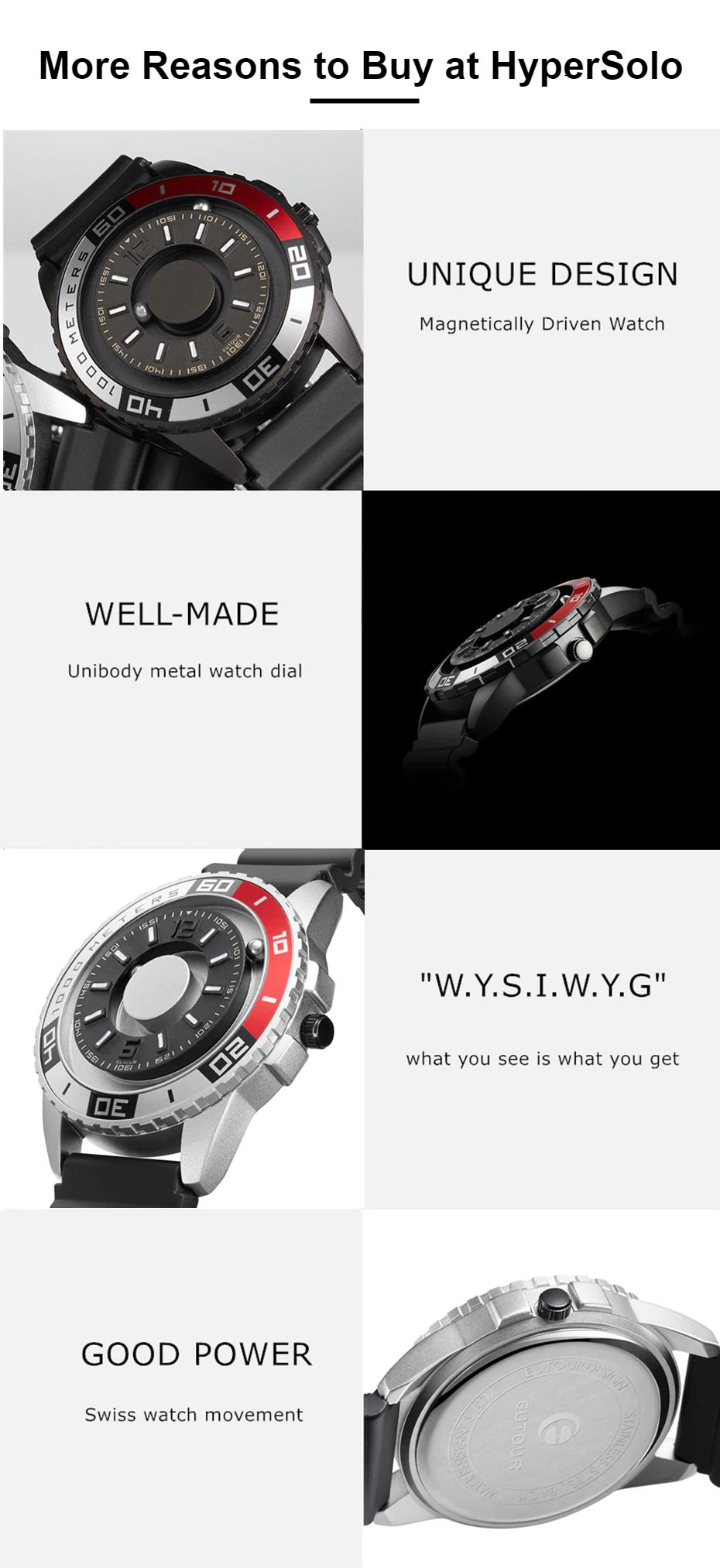 Magnetic metal Touch Premium men's watch